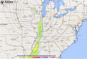 12z GFS 1km Vorticity Generation Parameter 7 PM Wednesday