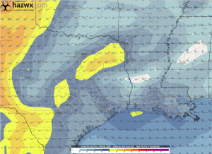 12z GFS Hr 108 0-6 km Shear