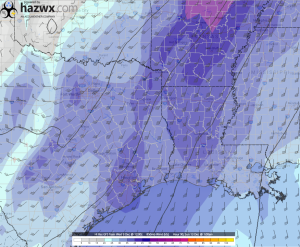 12z GFS 850 Winds Hr 90